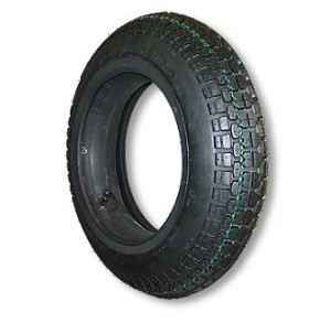 "350 X 10 STUDDED TIRE, 4 PLY, 3.7"" WIDE, 17.5"" OD"