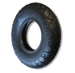 "350 X 10 UNIVERSAL TIRE, 4 PLY, 3.7"" WIDE, 17.5"" OD"