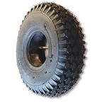410/350 X 4 STUDDED TIRE, 4 PLY, 3.5
