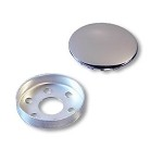 STEERING WHEEL CAP ASSEMBLY (MOUNTING CUP & CHROMED CAP),