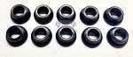 "5/16"" Bore Aluminum Tapered Rod End Spacers 10PK Black Anodized"