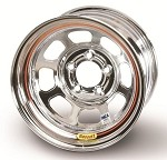 Bassett Racing D-Hole IMCA Chrome Wheels