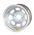 Bassett Racing D-Hole IMCA Silver Powdercoated Wheels