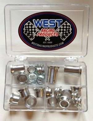 "Spacer Kit 3/8"" Tricklock & Aluminum Rod End Tapered Spacers"