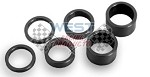 Quarter Midget Front Spindle Spacer Kit Steel in Black 6pc